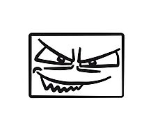 Box rectangle cool evil Monster face Photographic Print