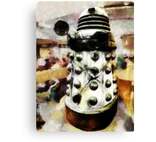 The Dead Dalek Display  Canvas Print