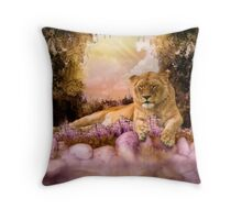 Lions Pond Throw Pillow