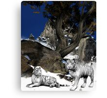 Hidden High In The Mountains Canvas Print