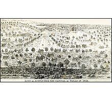 AUSTIN TEXAS 1844 Photographic Print