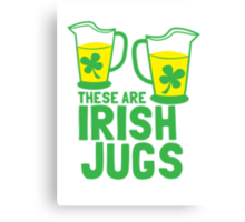 These are IRISH Jugs with green shamrcoks Canvas Print