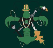 St. Patrick's Day Crawfish Fleur de Lis by StudioBlack