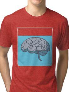 Brain in a jar (blue) Tri-blend T-Shirt