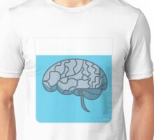 Brain in a jar (blue) Unisex T-Shirt