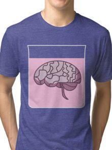 Brain in a jar (pink) Tri-blend T-Shirt
