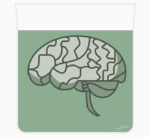 Brain in a jar (green) Kids Tee