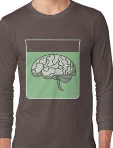 Brain in a jar (green) Long Sleeve T-Shirt