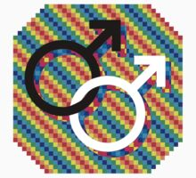 Gay male symbol - Black/white only by matt lloyd