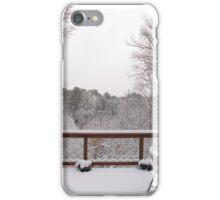 Peaceful snow scene iPhone Case/Skin