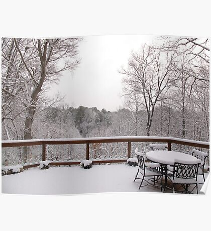 Peaceful snow scene Poster