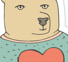 Bear in love Sticker