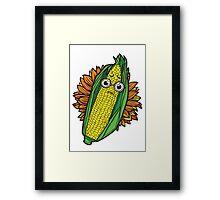 Concerned Corn Framed Print