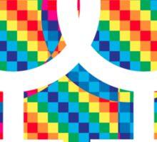 Gay Female symbol - White only Sticker