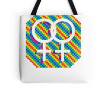 Gay Female symbol - White only Tote Bag
