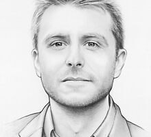 Chris Hardwick Portrait by OlechkaDesign