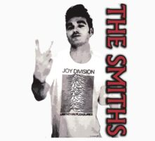 Morrissey of the Smiths Joy Division Unknown Pleasures shirt by Shaina Karasik