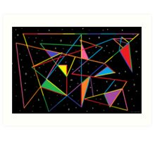 Tangled Angles Art Print