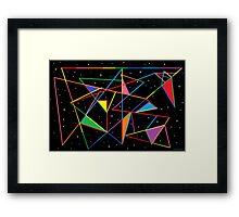 Tangled Angles Framed Print