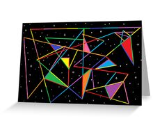 Tangled Angles Greeting Card