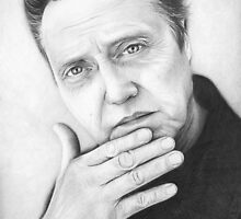 Christopher Walken Portrait, Art, Drawing,  by OlechkaDesign
