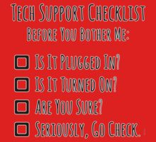 Tech Support Checklist One Piece - Long Sleeve