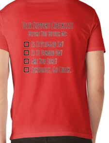 Tech Support Checklist Mens V-Neck T-Shirt