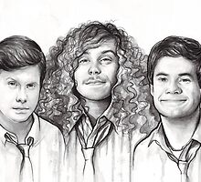 Workaholics Art, Watercolor by OlechkaDesign