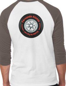 Fernando Alonso Scuderia Ferrari F1 Wheel Men's Baseball ¾ T-Shirt