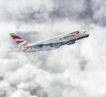British Airways A380 by J Biggadike