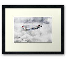 British Airways A380 Framed Print
