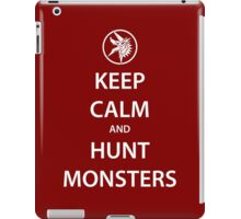 KEEP CALM and HUNT MONSTERS (white) iPad Case/Skin