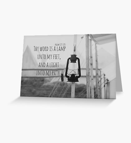 Psalm 119 Word Lamp Greeting Card