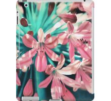 Sunny Agapanthus Flower in Pink & Teal iPad Case/Skin