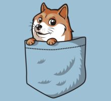 Doge Pocket (Pocket Doge T-Shirt) by Tabner