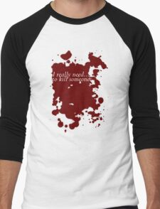 Dexter inspired Blood Spatter and Quote Men's Baseball ¾ T-Shirt