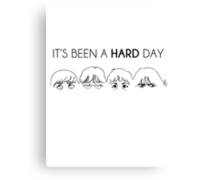 It's been a hard faboulous day! Canvas Print