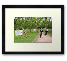 Joe, you said we were getting a horse drawn carriage----what was I supposed to think? Framed Print