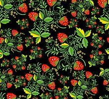 Festive khokhloma seamless pattern  by lilileka