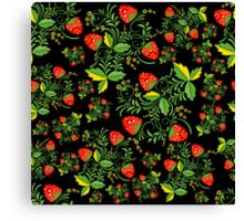 Festive khokhloma seamless pattern  Canvas Print