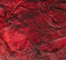 Red leather texture closeup by homydesign