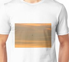 Plane in the Sunset Unisex T-Shirt