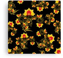 Vector illustration of seamless pattern Khokhloma Canvas Print