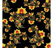 Vector illustration of seamless pattern Khokhloma Photographic Print
