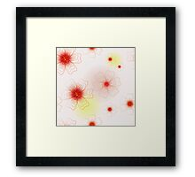 Floral seamless pattern. Background. Framed Print