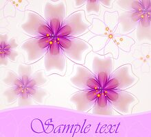 Holiday flower Background by lilileka