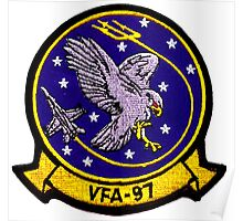VFA-97 Warhawks Patch Poster