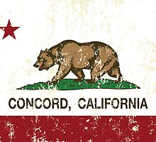 Concord California Republic Flag Distressed by NorCal