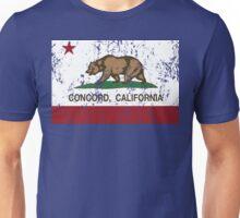 Concord California Republic Flag Distressed Unisex T-Shirt