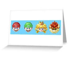 Pixel Mario Greeting Card
